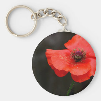 Brilliant Red Poppy Keychain
