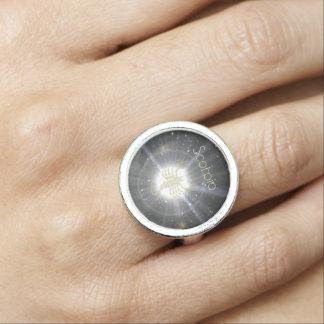 Brilliant Scorpio Photo Ring