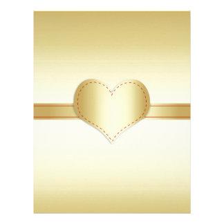 Brilliant shiny gold letterhead