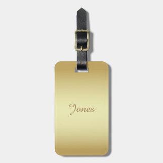 Brilliant shiny gold luggage tag