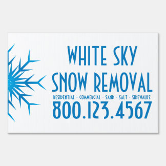 brilliant snowflake snow removal sign