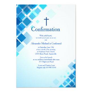 Brilliant Squares Confirmation Invitation