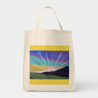 Brilliant starburst sunrise totebag tote bag