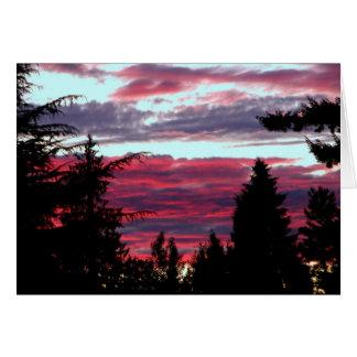 Brilliant Sunset Card