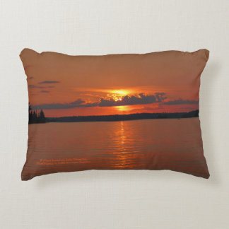 Brilliant Sunset On Lake Vermilion h-throw Decorative Pillow