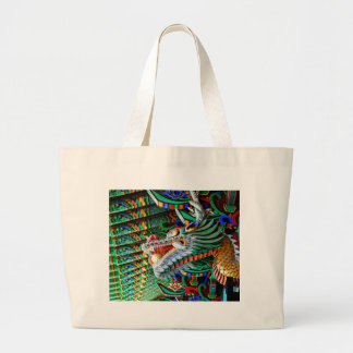 Brilliant Temple Dragon Large Tote Bag