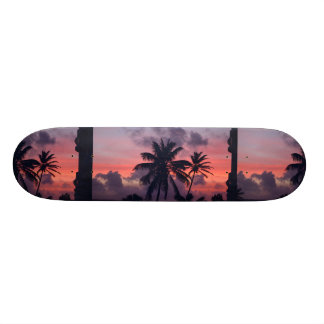 Brilliant Tropical Sunset Skate Board Decks
