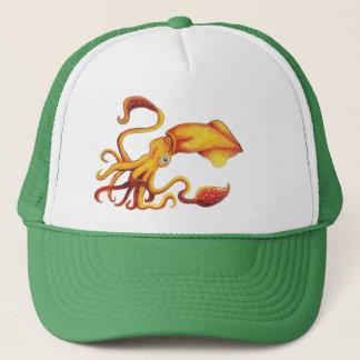 Brilliant Yellow Squid with Orange Tentacles Trucker Hat