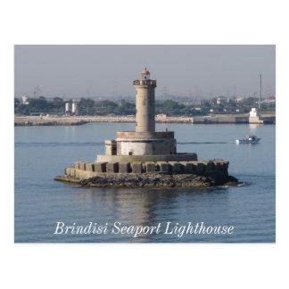 Brindisi Seaport Lighthouse Postcard