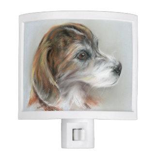 Brindle Beagle Mix Dog Portrait Nite Lite