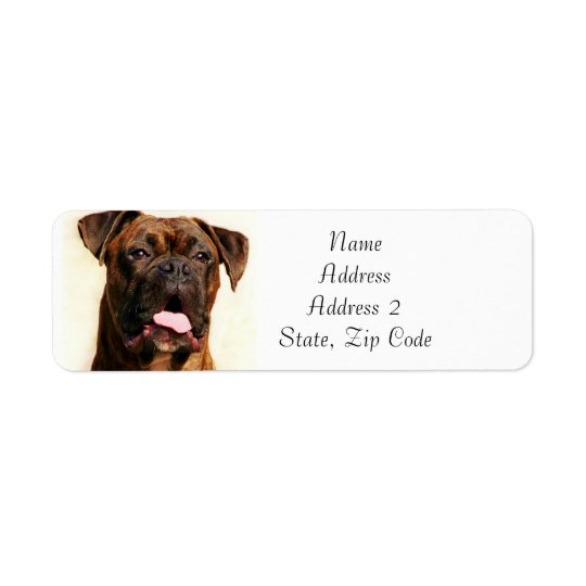 Brindle Boxer Dog Address Labels