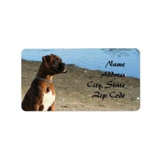 Brindle Boxer dog Address Labels