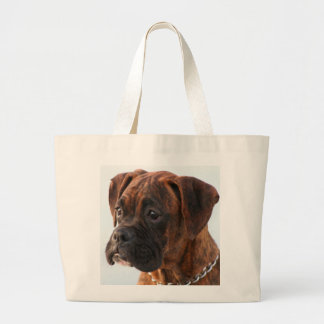 Brindle boxer puppy tote bag