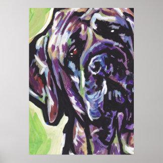 Brindle English Mastiff Bright Pop Art Poster