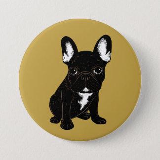 Brindle French Bulldog 3 Inch Round Button