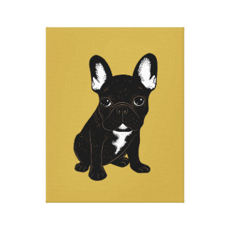 Brindle French Bulldog Canvas Print