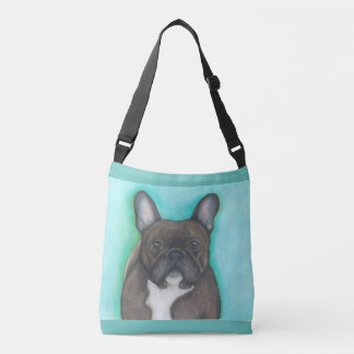 Brindle French Bulldog cross body bag