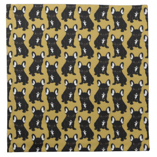 Brindle French Bulldog Napkin