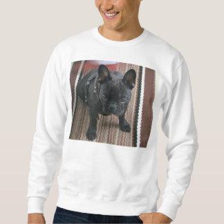 Brindle_French_Bulldog sitting Sweatshirt