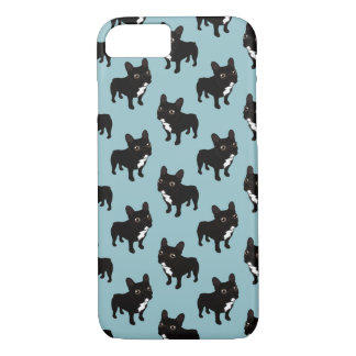 Brindle Frenchie likes to go for a walk Case-Mate iPhone Case