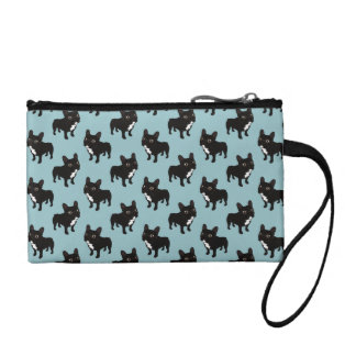 Brindle Frenchie likes to go for a walk Coin Purses