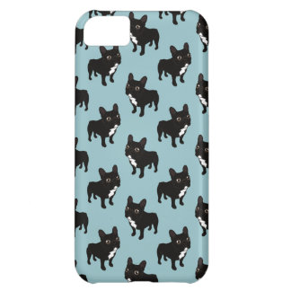 Brindle Frenchie likes to go for a walk iPhone 5C Cases
