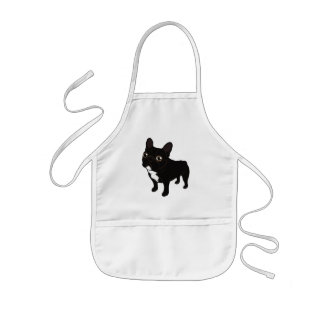 Brindle Frenchie likes to go for a walk Kids Apron