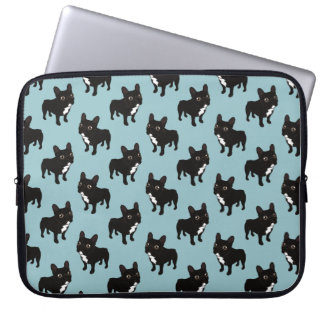 Brindle Frenchie likes to go for a walk Laptop Sleeve