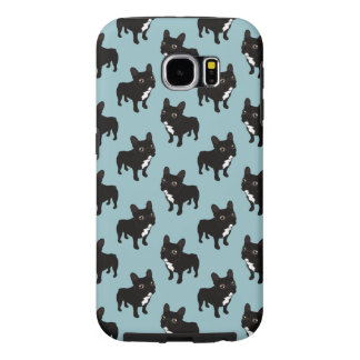 Brindle Frenchie likes to go for a walk Samsung Galaxy S6 Cases