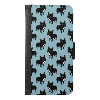 Brindle Frenchie likes to go for a walk Samsung Galaxy S6 Wallet Case
