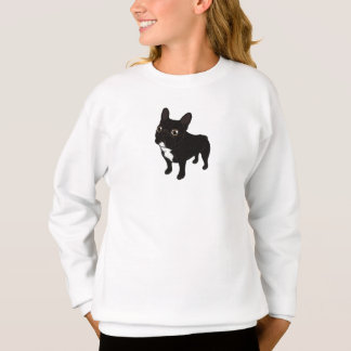 Brindle Frenchie likes to go for a walk Sweatshirt