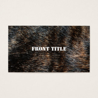 Brindle Fur Texture Camouflage Business Card