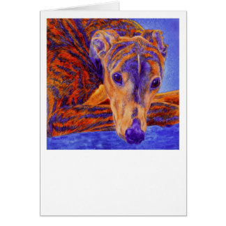 "Brindle Greyhound Card - ""Ace"""
