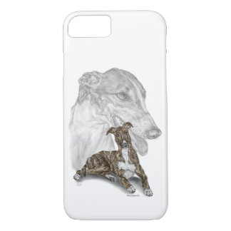 Brindle Greyhound Dog Art iPhone 7 Case