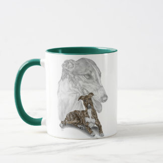 Brindle Greyhound Dog Art Mug