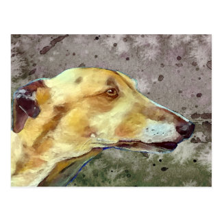 Brindle greyhound postcard (a341)