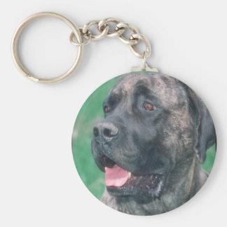 Brindle Mastiff Keychain