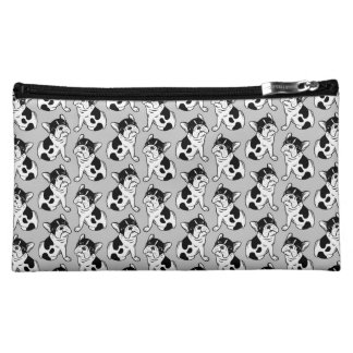Brindle Pied Frenchie Puppy Cosmetic Bag