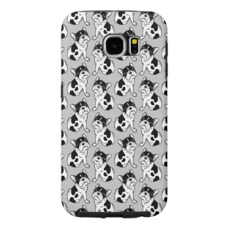 Brindle Pied Frenchie Puppy Samsung Galaxy S6 Cases