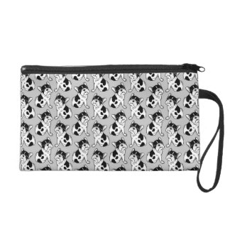 Brindle Pied Frenchie Puppy Wristlet
