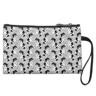 Brindle Pied Frenchie Puppy Wristlet Purses