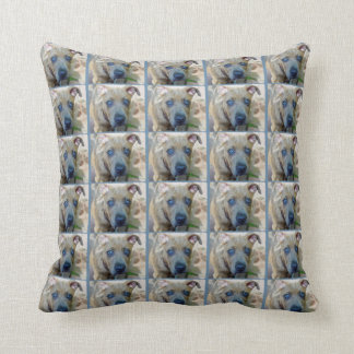 Brindle Pit Bull Puppy by Shirley Taylor Throw Pillow