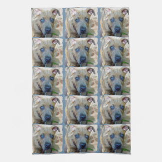 Brindle Pit Bull Puppy by Shirley Taylor Towel