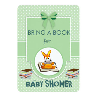 Bring a Book Baby Shower Personalized Invitation