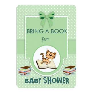 """Bring a Book Baby Shower 5"""" X 7"""" Invitation Card"""