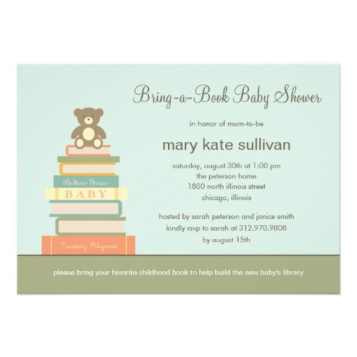 Bring A Book Baby Shower Invitations is an amazing ideas you had to choose for invitation design