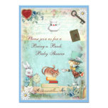 Bring a Book Mad Hatter & Cheshire Cat Baby Shower