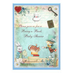 Bring a Book Mad Hatter & Cheshire Cat Baby Shower Invites