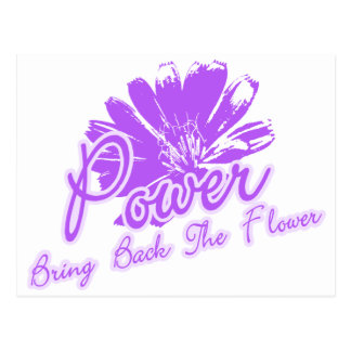 Bring Back the Flower Power Postcard