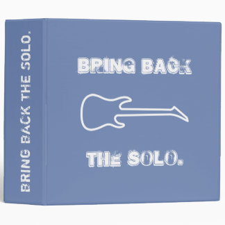 Bring Back The Solo Guitar Music 3 Ring Binder
